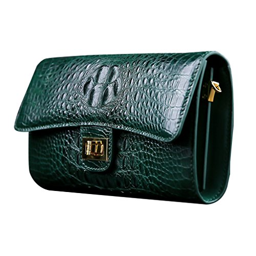CROCUST Luxury Crocodile Skin Women's Clutch Bag Crocodile Leather Shoulder Bag Designer Evening Bag