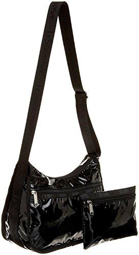LeSportsac Classic Hobo Handbag,Black Patent,one size