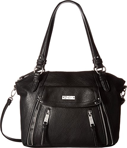 Jessica Simpson Women's Zuri Satchel Black Handbag