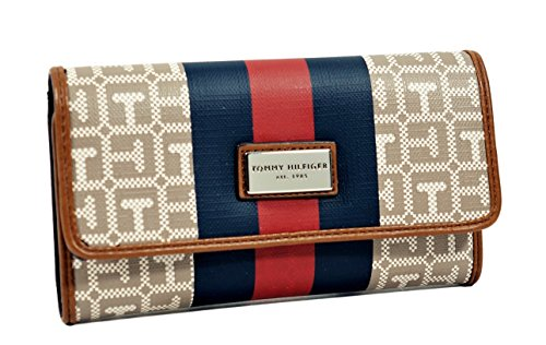 Tommy Hilfiger Red & Blue Stripe Women's Wallet Clutch Bag