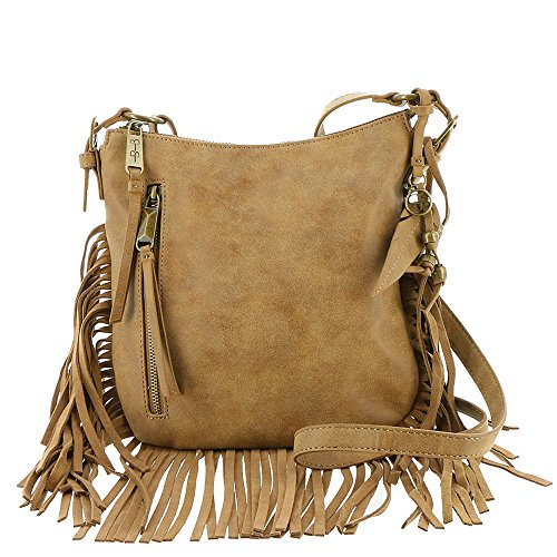 Jessica Simpson Women's Delilah Top Zip Crossbody Acorn Crossbody Bag