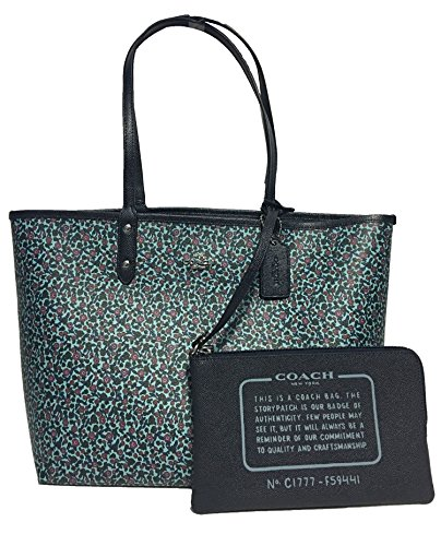COACH REVERSIBLE SIGNATURE TOTE (Mist Midnight)