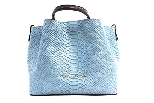 Dooney & Bourke Large Barlow Double Handle Bag (Dusty Blue)