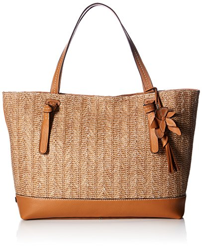 Cole Haan Brynn Tote Straw, Natural Straw/Pecan