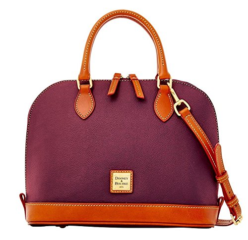 Dooney & Bourke Eva Zip Zip Satchel Shoulder Handbag Bag