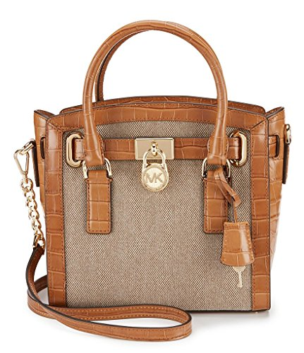 MICHAEL Michael Kors Studio Hamilton East West Canvas and Leather Satchel Hemp