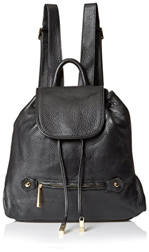 Halston Heritage Women's Solid Back pack, Black