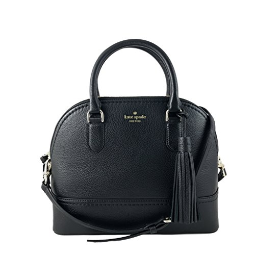Kate Spade New York Carli Mccall Street Leather Satchel in Black