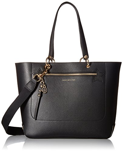 Tommy Hilfiger Item Travel Tote Bag for Women, Black