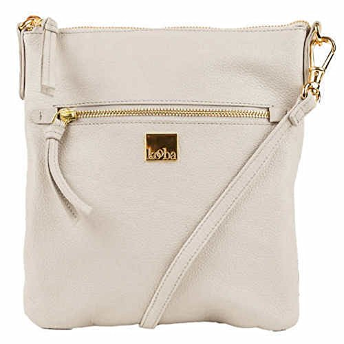 Kooba Leather Crossbody Bag Cream