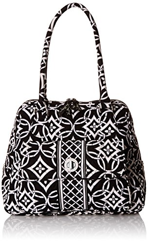 Vera Bradley Turn Lock Satchel Bag, Concerto, One Size