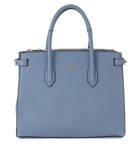 Furla Women's Furla Pin Light-blue Handbag Grey