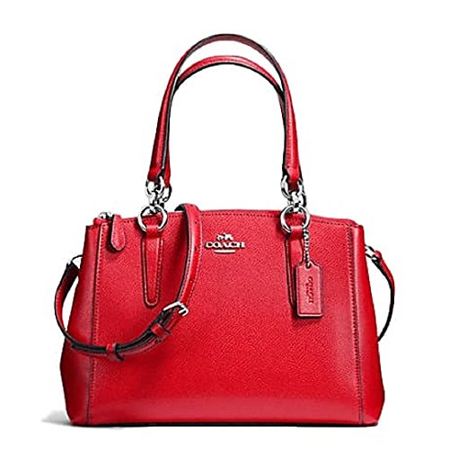 Coach Crossgrain Leather MINI Christie Carryall Satchel F57523 SV/Bright Red