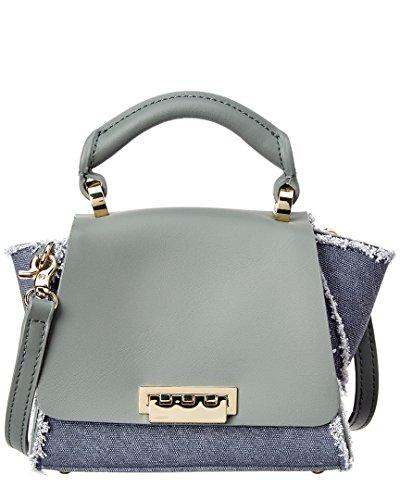 Zac Zac Posen Eartha Iconic Leather Mini Top Handle, Grey