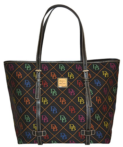 Dooney & Bourke Signature EW Shopper Tote Bag Purse Black Handbag