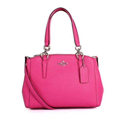 Coach Women's small Leather Bag Handbag F57523 (Rose powder)