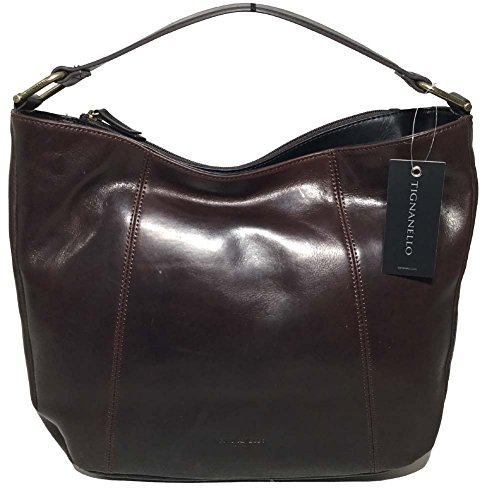 Tignanello Classic Equestrian Hobo, Brown/Black, 68633361
