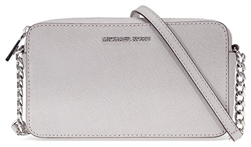 Michael Kors Jet Set Travel Medium Crossbody – Pearl Grey