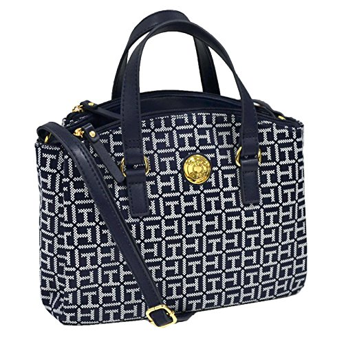 Tommy Hilfiger Satchel Purse Handbag in Navy Blue