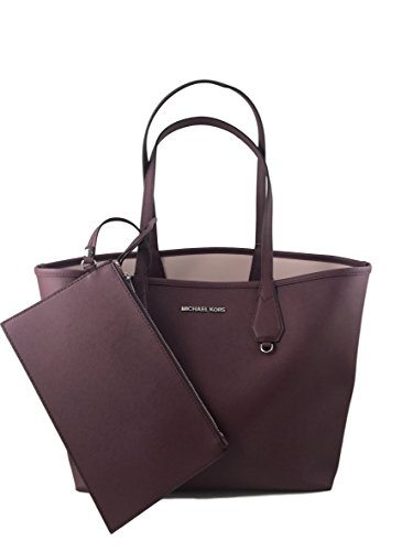 Michael Kors Candy LG Reversible PVC Tote Bag Plum/Blossom