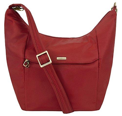 Travelon Anti-Theft Rounded Bucket Bag – Cayenne