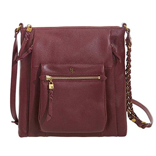 Elliott Lucca Gwen Leather Crossbody Handbag – Cabernet