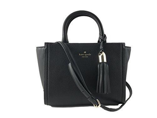 Kate Spade New York Small Rorie Wickham Place Leather Handbag in Black