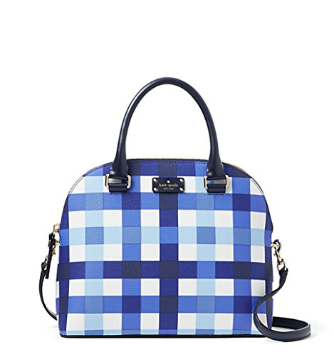 Kate Spade Grove Street Printed Carli Crossbody Bag Purse Satchel Handbag, Pacific Gingham