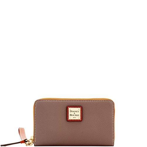 Dooney & Bourke Pebble Leather Zip Around Phone Wristlet Wallet Elephant