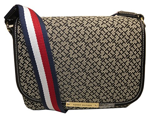 Tommy Hilfiger X Bag Crossbody Stripe Black Canvas Woman's