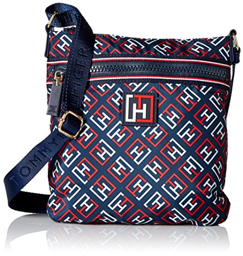 Tommy Hilfiger Sport Nylon Flat Cross Body Bag, Navy Multi, One Size