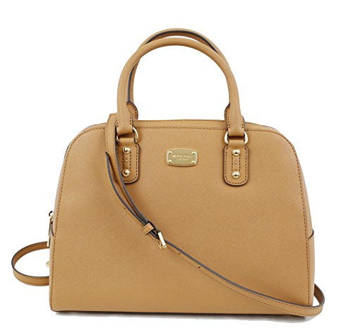 Michael Kors Saffiano Leather Large Satchel Handbag (Acorn)