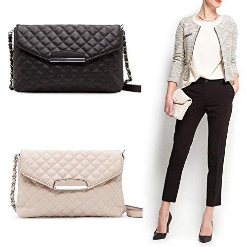 Fashion Women Shoulder Bag Leather Clutch Handbag Tote Purse Hobo Messenger Bag Black