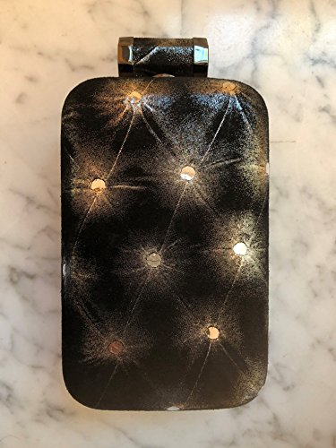 Halston Heritage Shimmering Black & Silver Evening Cellphone bag