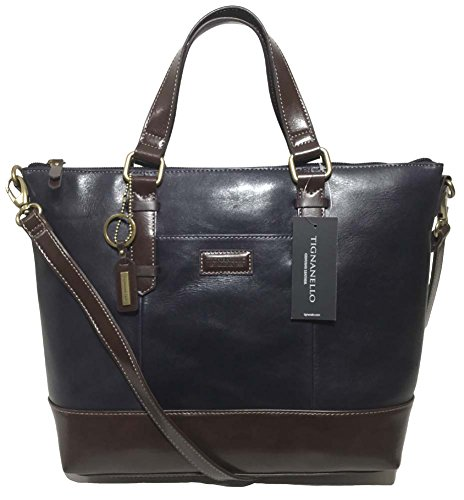 Tignanello Borough Convertible Tote, Navy/Dark Brown, T59610A