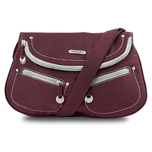 Travelon Front Flap Shoulder Bag (Bordeaux Twill)