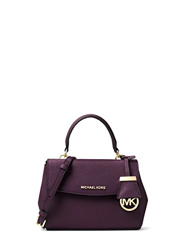 MICHAEL Michael Kors Ava Extra Small Saffiano Leather Crossbody Bag – Damson