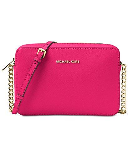 MICHAEL Michael Kors Jet Set Travel Large Crossbody, Ultra Pink