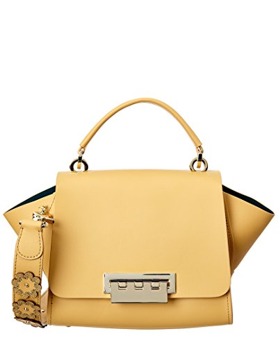 Zac Zac Posen Eartha Iconic Floral Leather Top Handle, Yellow