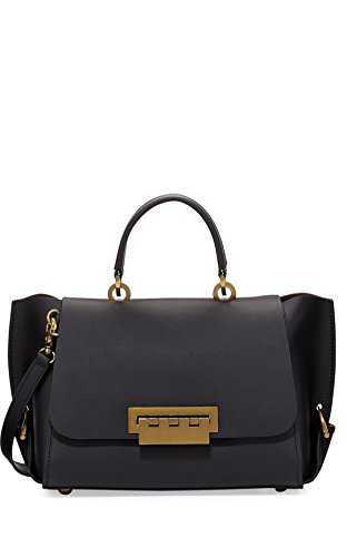 Zac Posen Eartha Folded Gusset Crossbody Black
