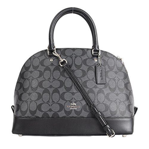 Coach Signature PVC Sierra Satchel F58287 Black Smoke/Black