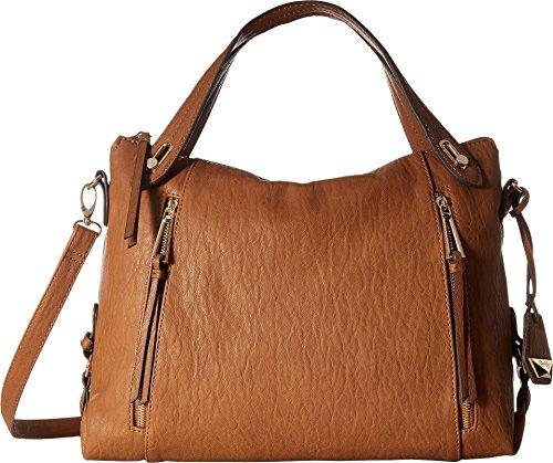 Jessica Simpson Women's Roxanne Crossbody Satchel Cognac Handbag