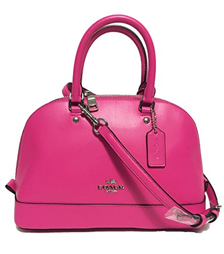 COACH MINI SIERRA SATCHEL IN CROSSGRAIN LEATHER F37217 (Bright Fuchsia)