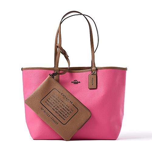 REVERSIBLE CITY TOTE IN COATED CANVAS