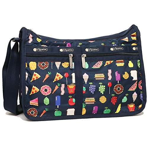 LeSportsac Foodmojis Deluxe Everyday Crossbody Handbag + Matching Cosmetic Bag