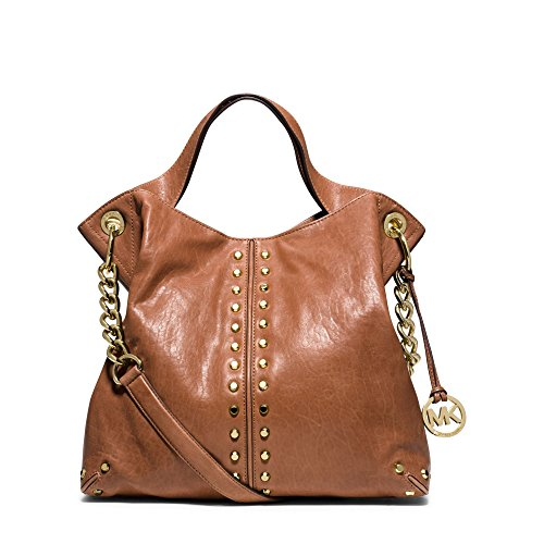MICHAEL MICHAEL KORS Astor Leather Shoulder Handbag (Walnut)