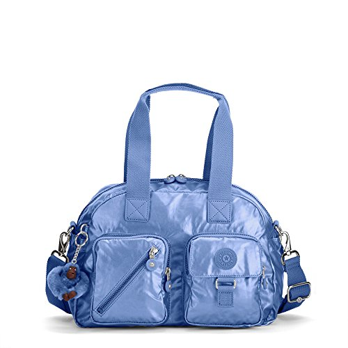 Kipling Women's Defea Metallic Handbag One Size Scuba Diver Blue Metallic