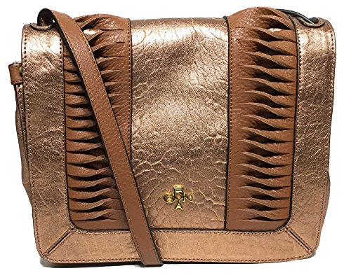 orYANY Woman's Italian Leather Cross Body, Metallic Bronze