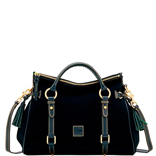 Dooney & Bourke Suede Med Satchel Black BSUED1940