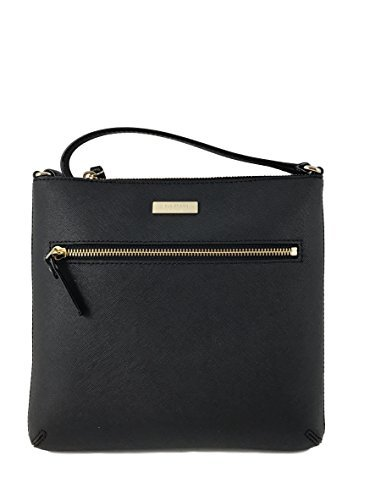 Kate Spade New York Rima Laurel Way Leather Crossbody Bag in Black